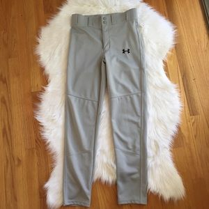 Boys Under Armour Gray Baseball Pants Youth Large